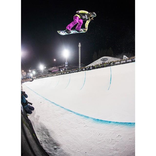 Defending #XGames Snowboard SuperPipe gold medalist @chloekimsnow turned 15 years old today. (