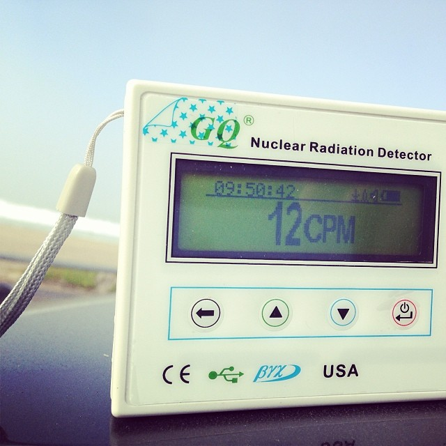 There has been a lot of talk on Facebook about #radiation from the #japanese #nuclearplant hitting the #westcoast . This guy at #elporto had a #radiationdetector and #levels were very low. #stoked #sofarsogood !