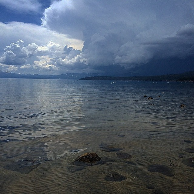 Storm clouds rolling in! Weather doesnt matter, its always beautiful in #Tahoe. Photo from @tahoedaves