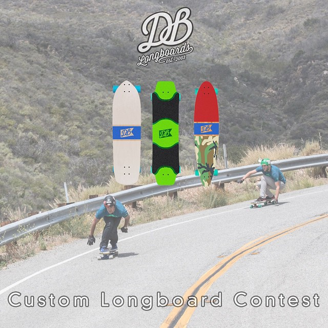 Make sure to enter our custom longboard contest for a chance to win your very own custom DB Longboard.  Step 1. Build your custom longboard by going to DBlongboards.com/build  Step 2. Take a screen shot or photo of your custom longboard design, upload...