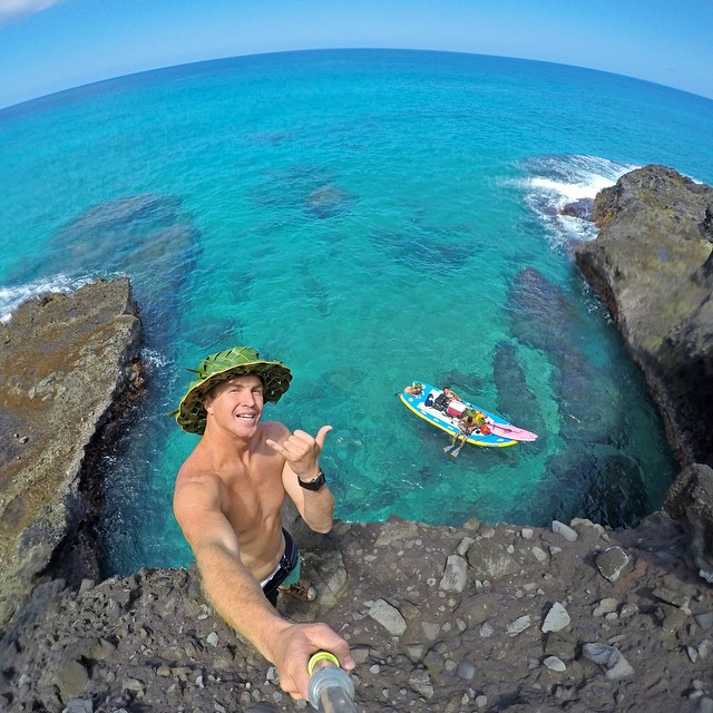 When the ocean is flat, @whoisjob and friends take to exploring the Napali Coast in Kauai on a @c4waterman Raptor. #gopro #gopole #gopoleevo #hawaii
