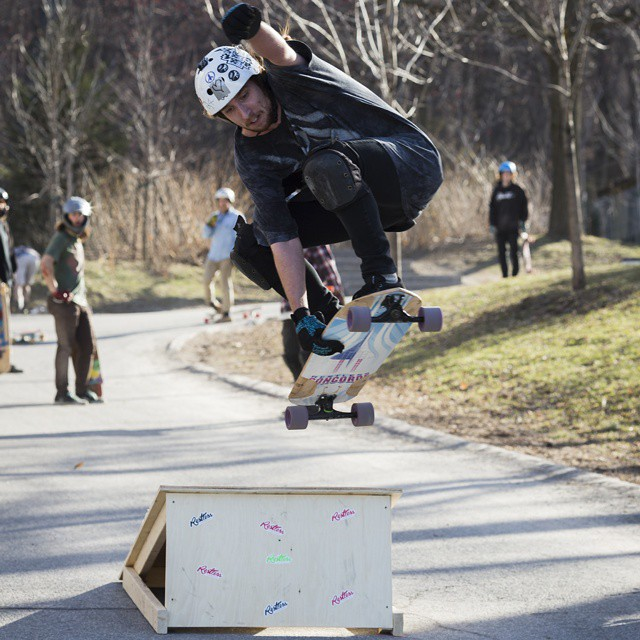 Steve last weekend at the 4/19 slidejam!  Did over 20 feet of air with the #restlessconcorde!  #restlessboards