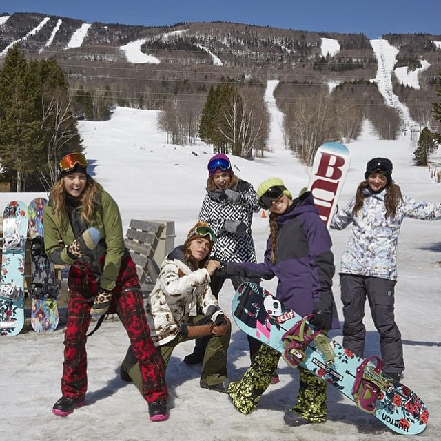 Get one last shred day this season with the raddest ladies! Don't forget that #TeamB4BC rider @kimmyfasani's @amusement_park is happening this weekend at @mammothmountain, with a Burton Girls Ride Day on Saturday and a B4BC Bowl-A-Thon on Tuesday...