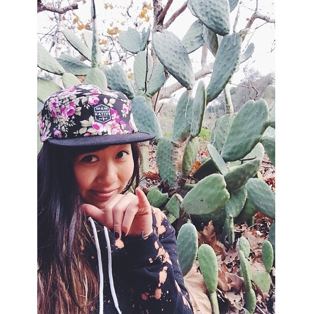 "#tbt to @sk8namaste rockin our ""el segundo"" 5-panel hat. This is just one of the many hats you could get in one of our Curious Cubes! Just 6 days left! #concretenative #cactus #floral #hat #5panel #skatelife #longboardlife"