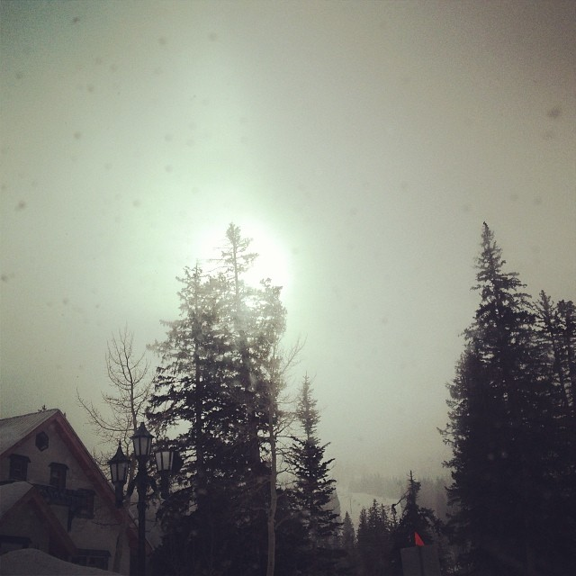 It's snowing up at @brightonresort!! We're certainly going to take advantage of the fresh snow today.