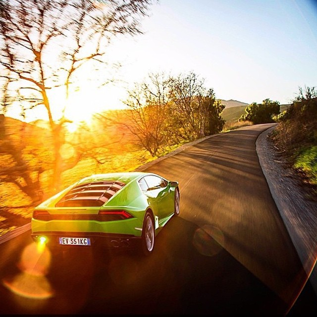 Today is FAST Friday. Featured whip is the new @lamborghini Huracan. @capitolsunset #sunset #fastfriday