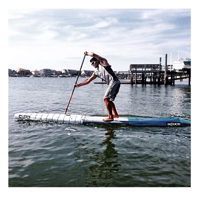 @bichosup just picked up his new 14' Rogue race board and is ready for some Carolina Cup madness! #roguesup #carolinacup #sup