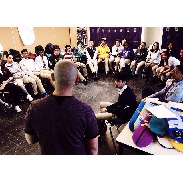 Repost from @harmeetkala of @jeffstaple inspiring our kids earlier this week. #findyourpassion #shareyourskills