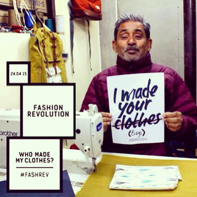 Today for #FashionRevolutionDay we thank Anwar, one of our dedicated tailors, who always seems to take things lightly and joke around, even when he's working. We also sincerely thank the rest of our production team, our partner weavers and artisans,...