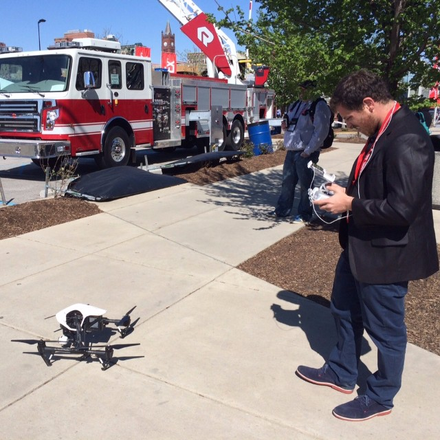 Helping firefighters from all angles.  #DJI and SkyFire Consulting​ were on hand at the FDIC​ to showcase how using drones can help with containment and a quicker response for all firefighters.  #aerial #inspire1 #dronesaregood #DJIMoments