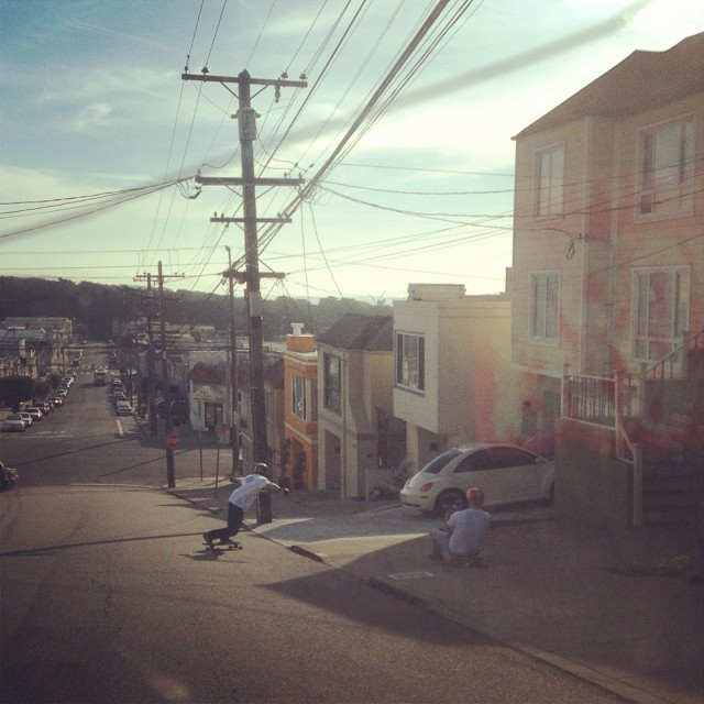 @_jensen_7 surfing lines in San Francisco with @chubbaluv exercising his buttboard follow cam skills! Get hyped for the Blueberry Farmer video coming soon... #calibertrucks