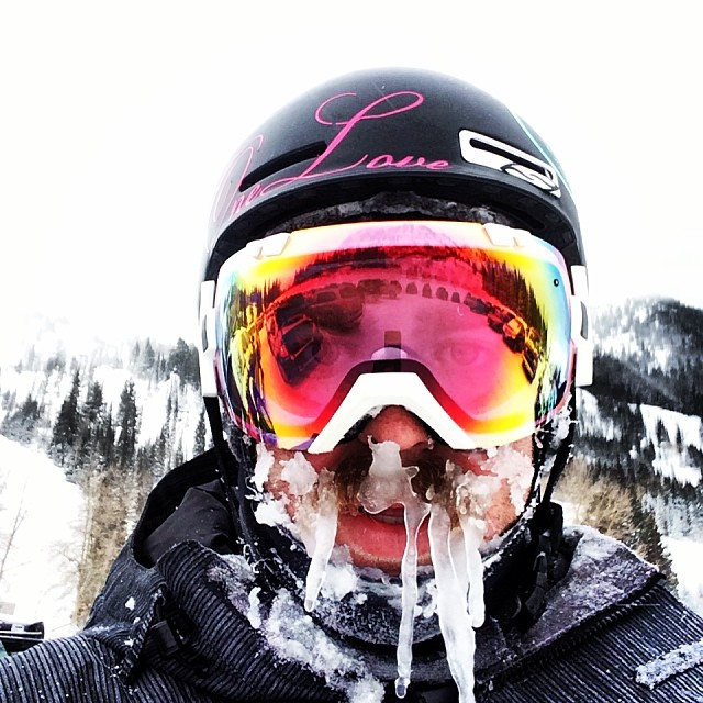 'Twas an excellent day skiing at @snowbird #beardsicles were out in full force! #kittenfactory #firstselfie