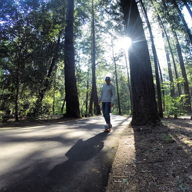 Never a bad day in the wild....@normhann getting lost in the trees in Northern California. #netstodecks #getoutside