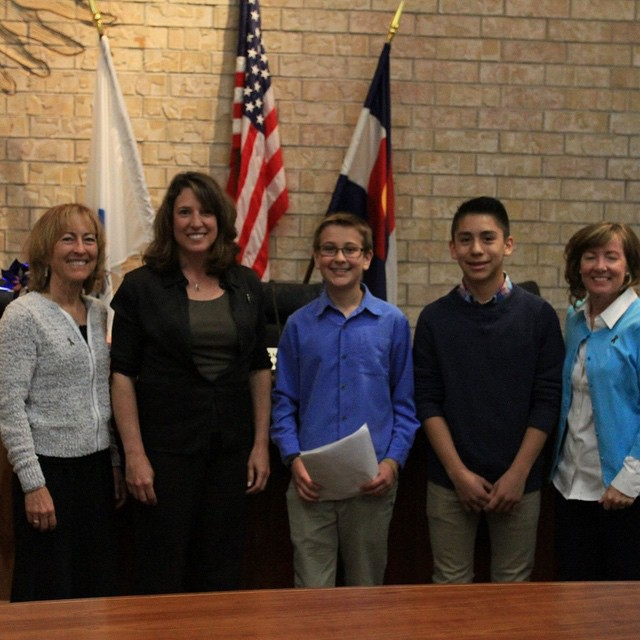 We love seeing SOS Masters students use the public speaking skills they learned in SOS to thank elected officials in #EagleCounty for supporting our programs! | #inspireyouth #leadership