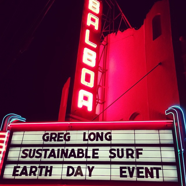 HUGE thanks to everyone who came out to our amazing #DayAfterEarthDay event last night at the @balboatheatre in Ocean Beach to celebrate SF's local surfing community, which is leading the charge towards a more sustainable future for surf culture...