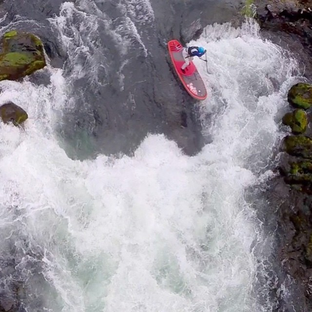 """One person's craziness is another person's reality."" - Tim Burton. Go ahead; get crazy...it's the weekend! @urbanoceansup by @danyak101 #getoutthere #miolaunderneath #supgirl #riversup #whitewatersup"