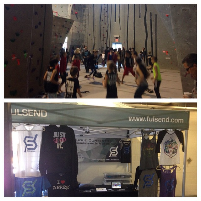 The @carabinersfairfield SCS 2015 Comp is on!!! #climbing #scs #JustSendIt #rockclimbing #goclimb #sendit come say hi! @outdoorsportscenter