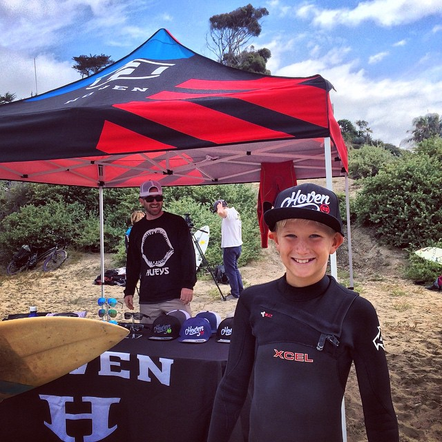 Keepin' the stoke alive. #hovenvision #neversettle #fishbowlclassic #sanclemente #surf #surfcompetition #throwdown #fun #grom