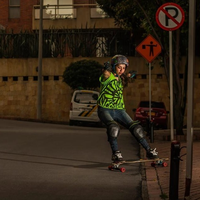 @chelagiraldo from LGC #Colombia! Pic Luis Rivera. Go Monday! #longboardgirlscrew