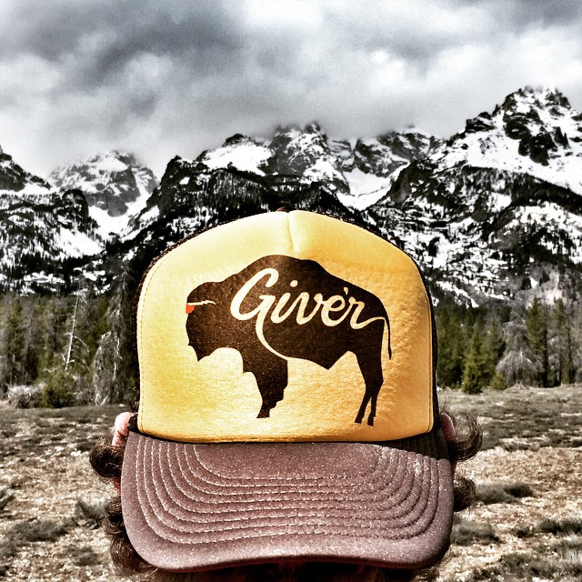Happy Saturday from Give'r County, USA. Roam free in our new Bold Bison Trucker. #boldbison #jacksonhole #roamfree