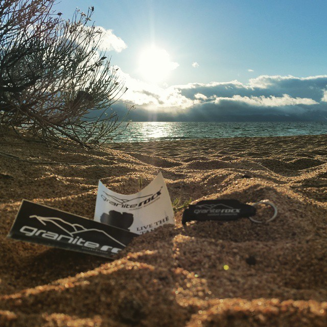 The #snow from this AM has melted down low.  Some Granite Rocx swag displayed on the #beach.  #peaceful #tranquil #swag #graniterocx