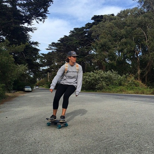 Sliding sideways Sundays with @nicolettee_renee at the Golden Gate Park. @patagoniasf #netstodecks