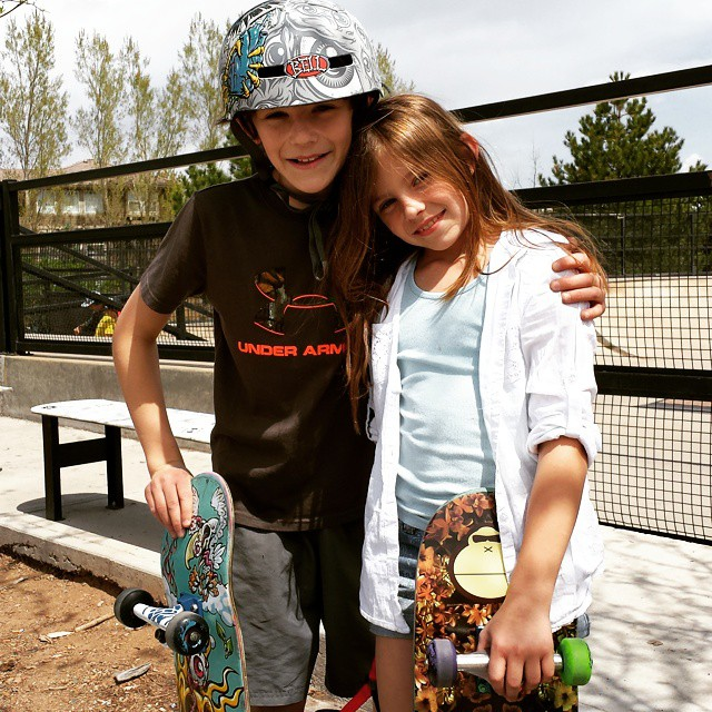 Stoke factor high after learning drop ins. @trustthebum @vansrockies #skatestart #highlandsranch