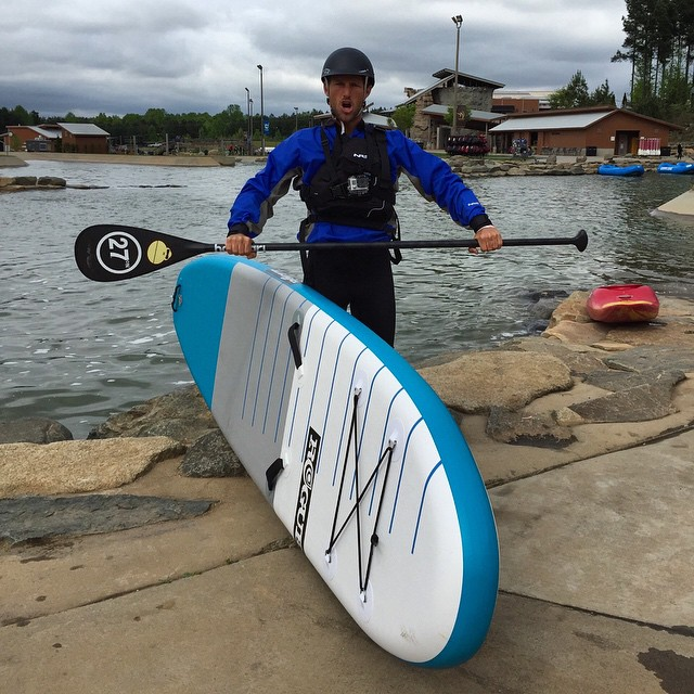 Beast mode at the U.S. National Whitewater Center in North Carilina with @joshriccio and @brian_s_meyer. Video of the carnage coming soon... #roguesup #sup #whitewater