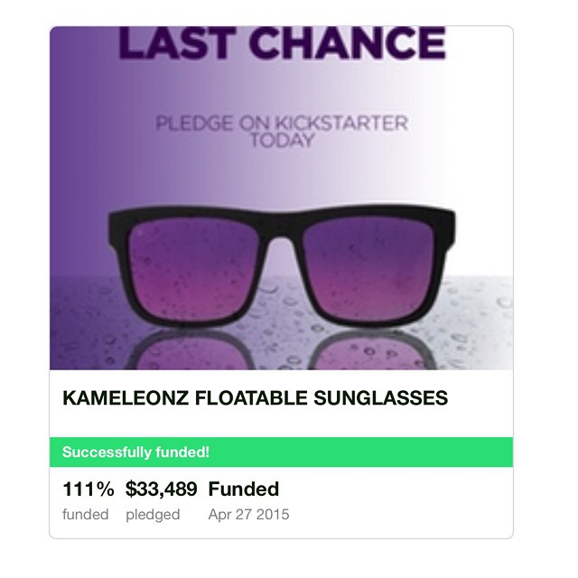 Thank you to all those who helped bring our Kameleonz Floatable Collection to life! With 182 backers we were able to successfully overfund our project at 111%! We can't wait to get these out to you!! #Kameleonz #Kickstarter #Funded #ThankYou
