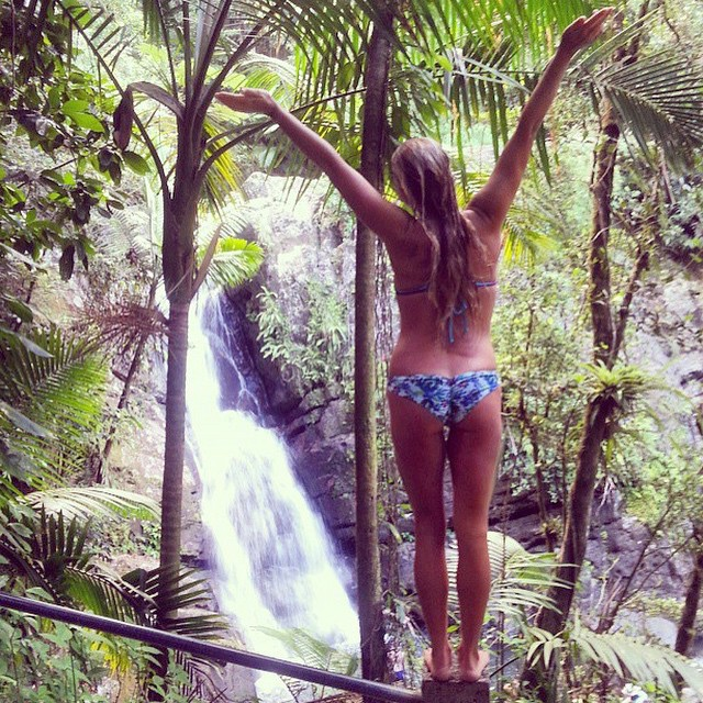 #waterfalls wash it all away!! @olasazules in our #bohoshort and #boho #surf in #Kahlia! Shop.odinasurf.com/p/boho-surf