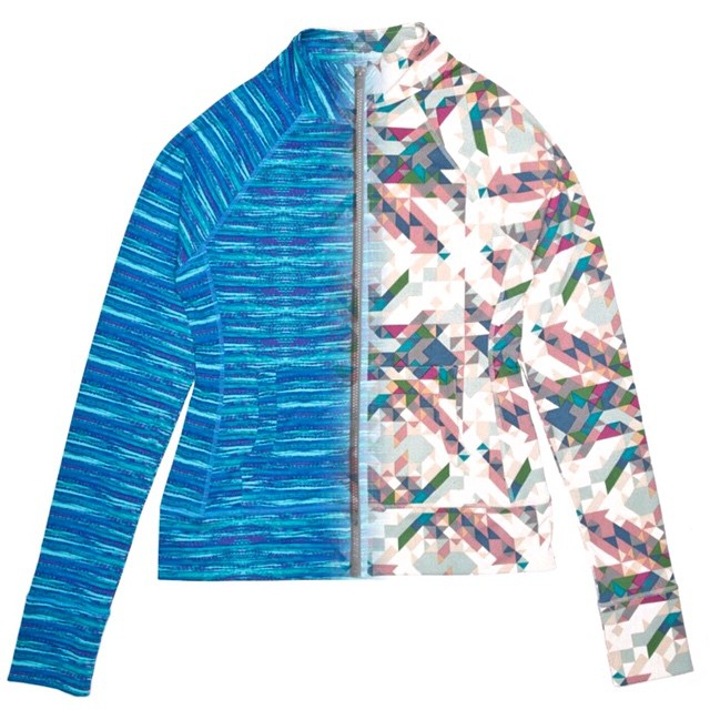 Two new prints, on incredible jacket. The Lori Zip Up is a must have for #spring. #activewear #workout #style #athleisure #fashion #mondayblues #mew #colors #prints