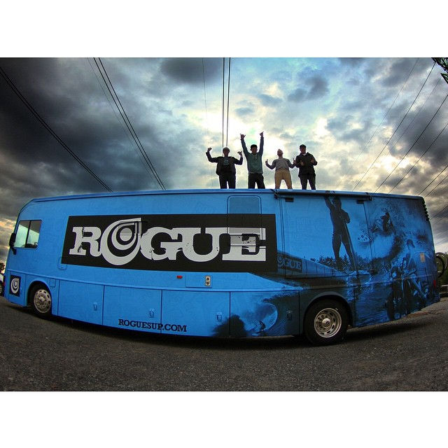 Just when life seems it couldn't get any better, the Rogue #bluebeast is born. Some fun times to come in this bad boy! #roguesup #sup #partybus #tour