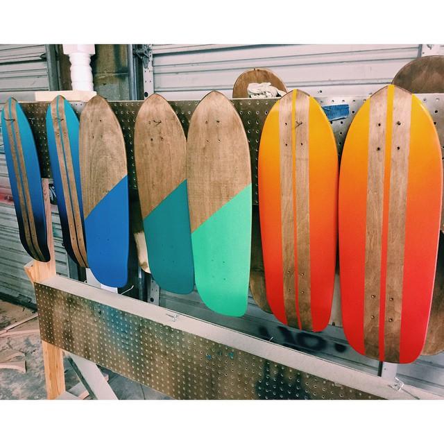 Feeling like summer in the workshop. #skate #woodworking #handmadeskateboard #Nashville