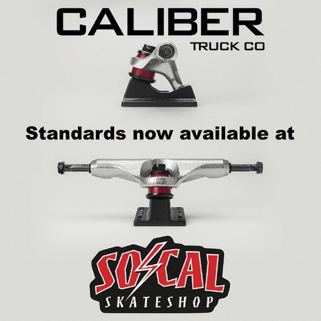 @socalskateshop just added the new #caliberstandards to their inventory. Head to their #skateshop in Mission Viejo, CA to pick up a set