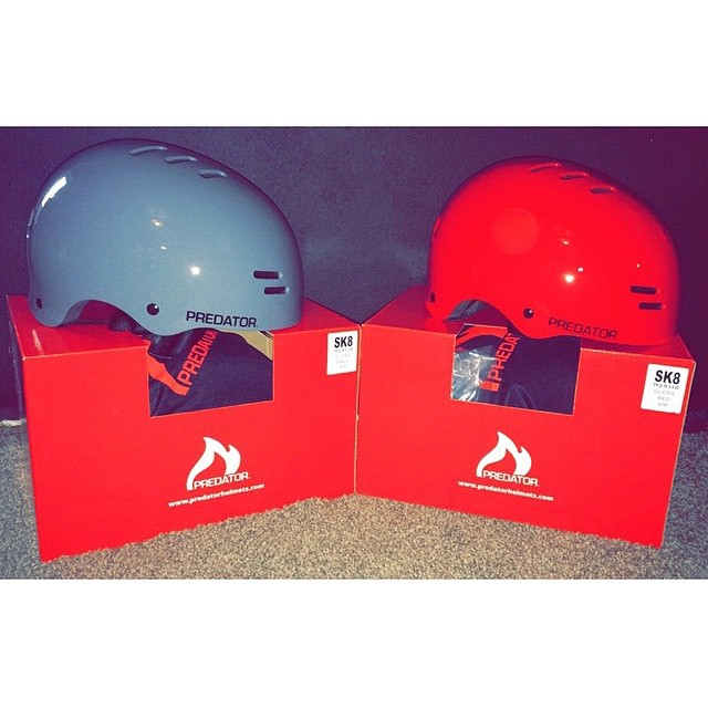 Looks like team rider @joshrodriguez91 just got some of the new Sk8 helmets we sent him! These are new for the 2015 season. With pool and transition skating in mind they're designed to be super lightweight and offer a more classic style helmet without...