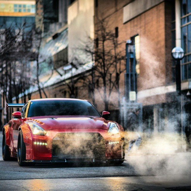 When all the smoke clears, only Godzilla will be left standing #gtr #ridefast #widebody #r35 photo by @zachbrehl @nurbrun