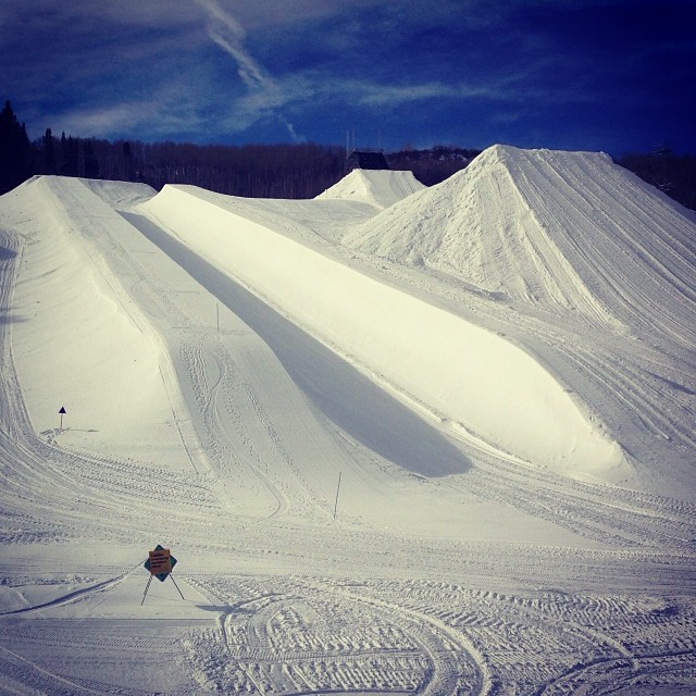 What a beautiful site. #xgames Aspen starts January 23!