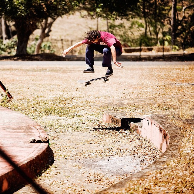 @starheadbody >>> Low to high fakie flip. This spot was so gnarly that evan would puke between every try. Photo by #ElementAdvocate #BrianGaberman