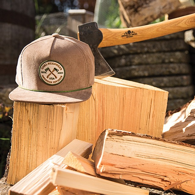 He (or she) that chops wood is twice warmed. Spring evenings call for a good cap like The Hatchet which can be found at a retailer near you.