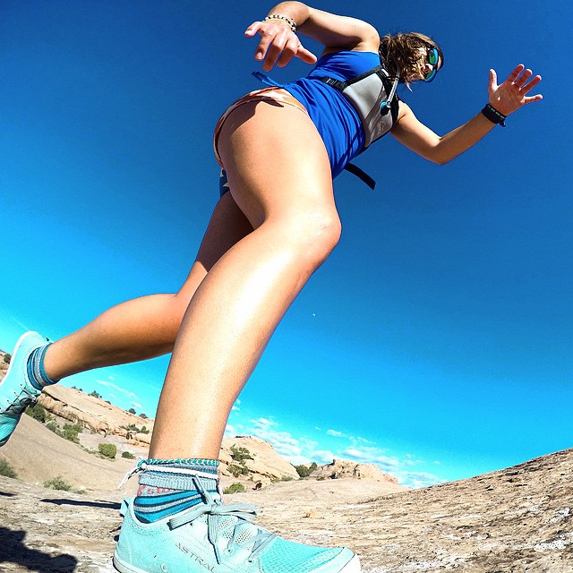 Slickrock trail run in my favorite @astralfootwear #astralloyak kicks. PC: @gnardia