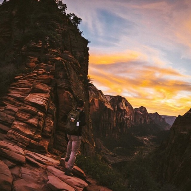 Adventure awaits... Go find it! #radparks photo of @arwesty by @andrew_albertson in Zion National Park #parksproject