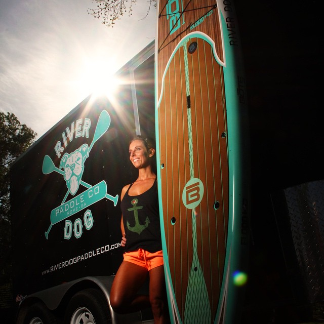 This week's #wcw goes out to all the ladies at @riverdogpaddleco! @kristyagan #paddleboard #fit #luvsurf #anchor