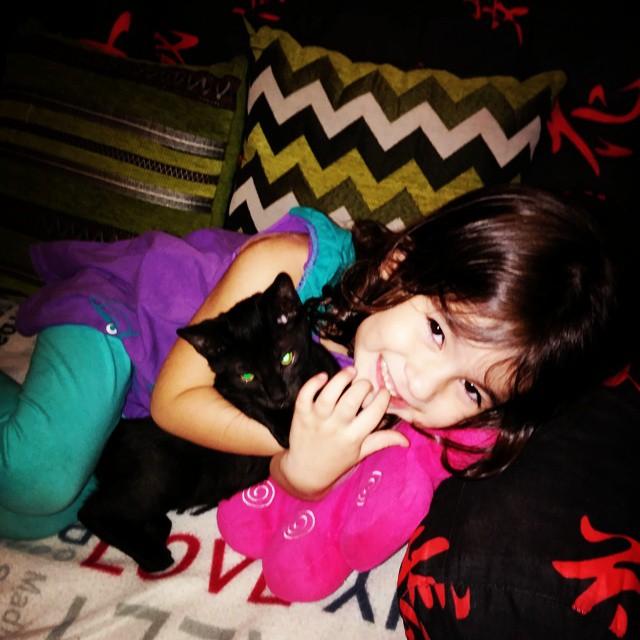 #child #cat #catLove #precious #instaCat #love #nice #cute #Renata #blackCat #Mylo