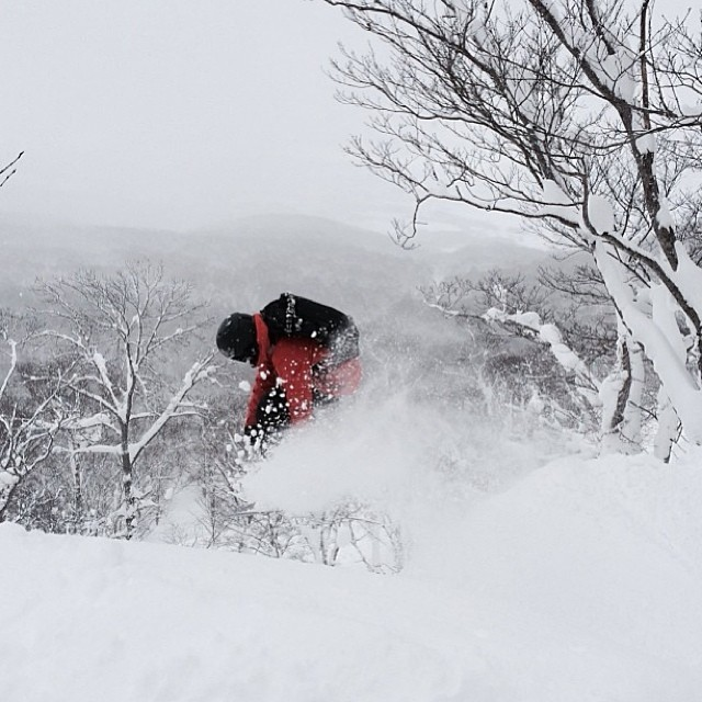 #TeamB4BC rider @kimmyfasani launches into the pow in Japan!  Who else is getting some epic turns this season? #behealthygetactive