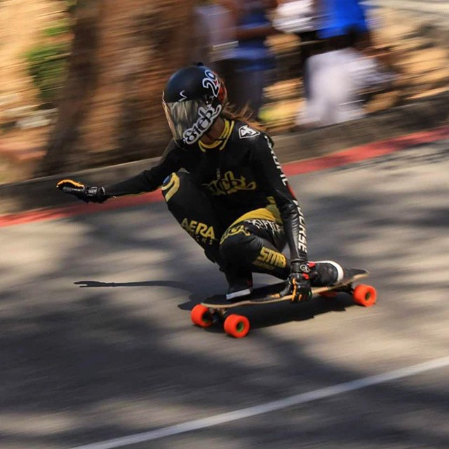 @lgcfrance amabassador @spokywoky during last years' @catalinaislandclassic happening again this weekend. Who's going to Avalon? @riptidesports photo  #longboardgirlscrew #womensupportingwomen #girlswhoshred #spokywoky #catalinaislandclassic