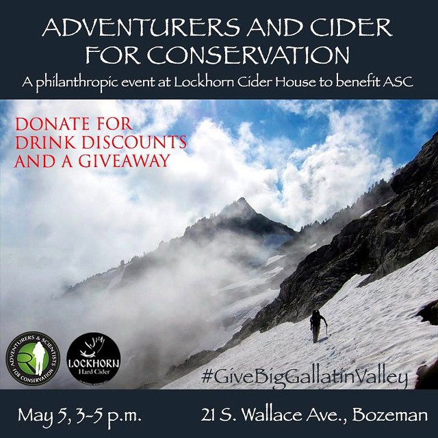 Skip out on work early and join us for drinks next Tuesday at @lockhorncider!  #ciderforscience #cincodemayo #givebiggallatinvalley