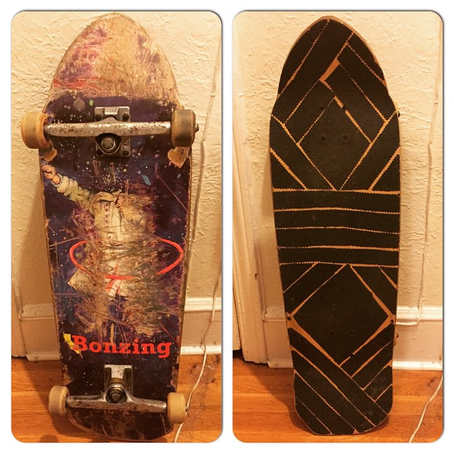 Team rider Dead Fred's Spunk setup and grip tape.  Indy 215's and hard wheels.  #deadfred #spunk #bonzing