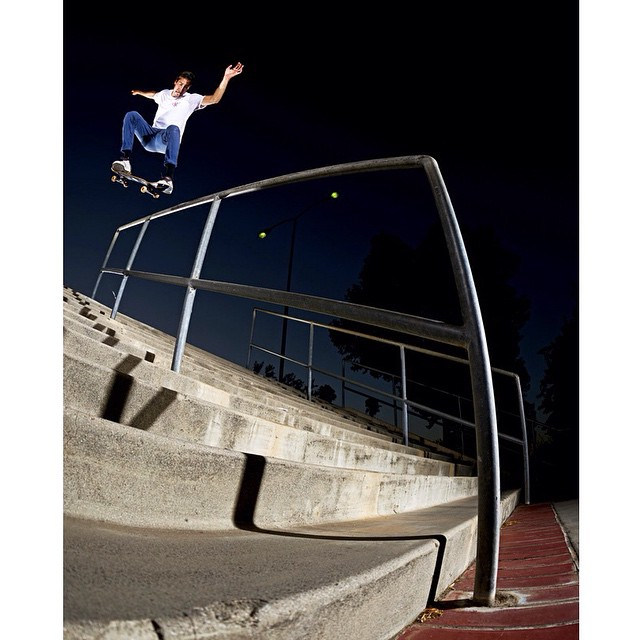 @mikeytaylor1 nollie crooks on a beast of a handrail. Photo: @bartjones #MikeyTaylor #DCShoes