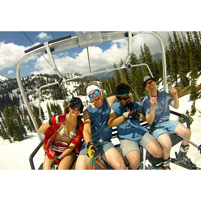 Throwing it back to last May with the jorts club. Soon I'll be shralping again! Just two more exams to go.