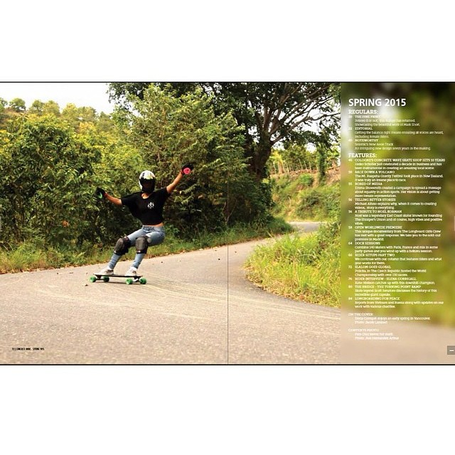 Page #12 of the new @concretewavemag smells like keylime and bubblegum! #Holesom rider @pamdiazz scored this kickass content page going fast down #lalomotadh in her country #dominicanrepublic pic @joel_089 #keepitholesom find more Holesom riders in the...